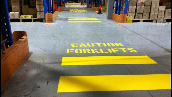 Warehouse Safety Floor Markings