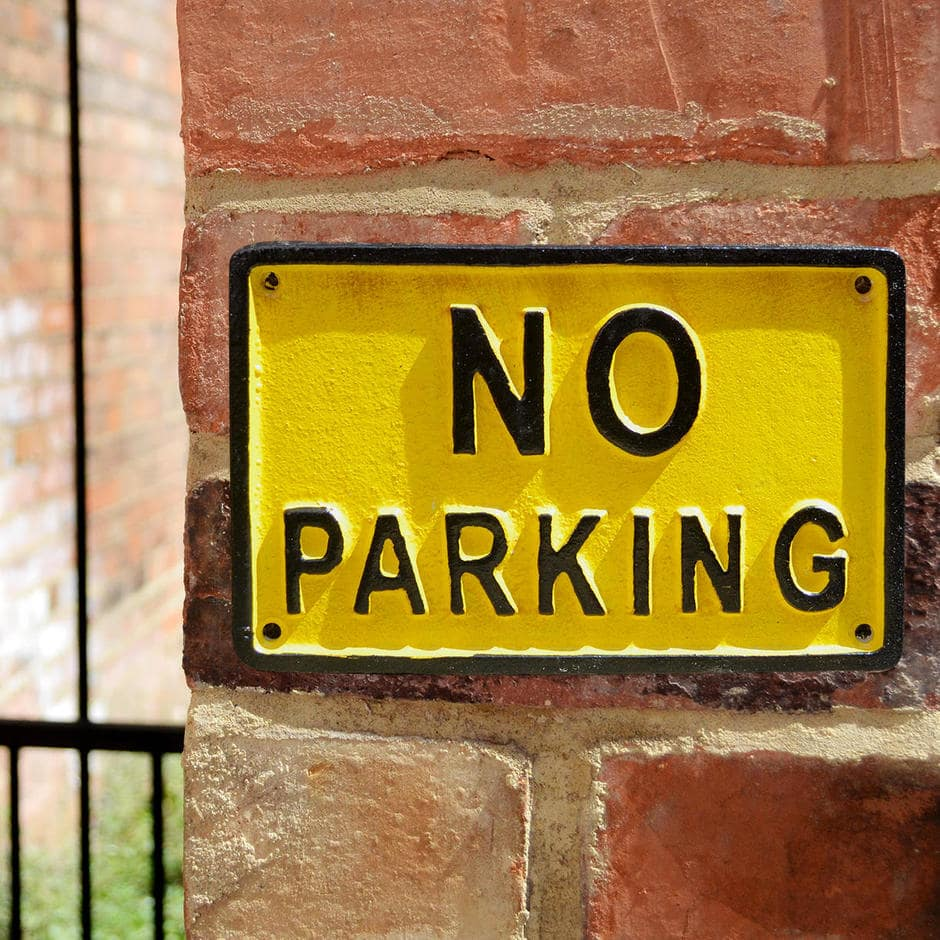 Drivers Not Permitted To Park