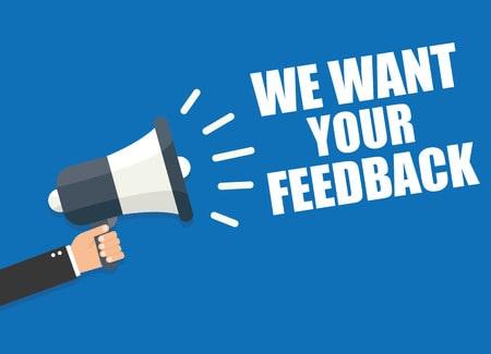 We Value Customer Feedback