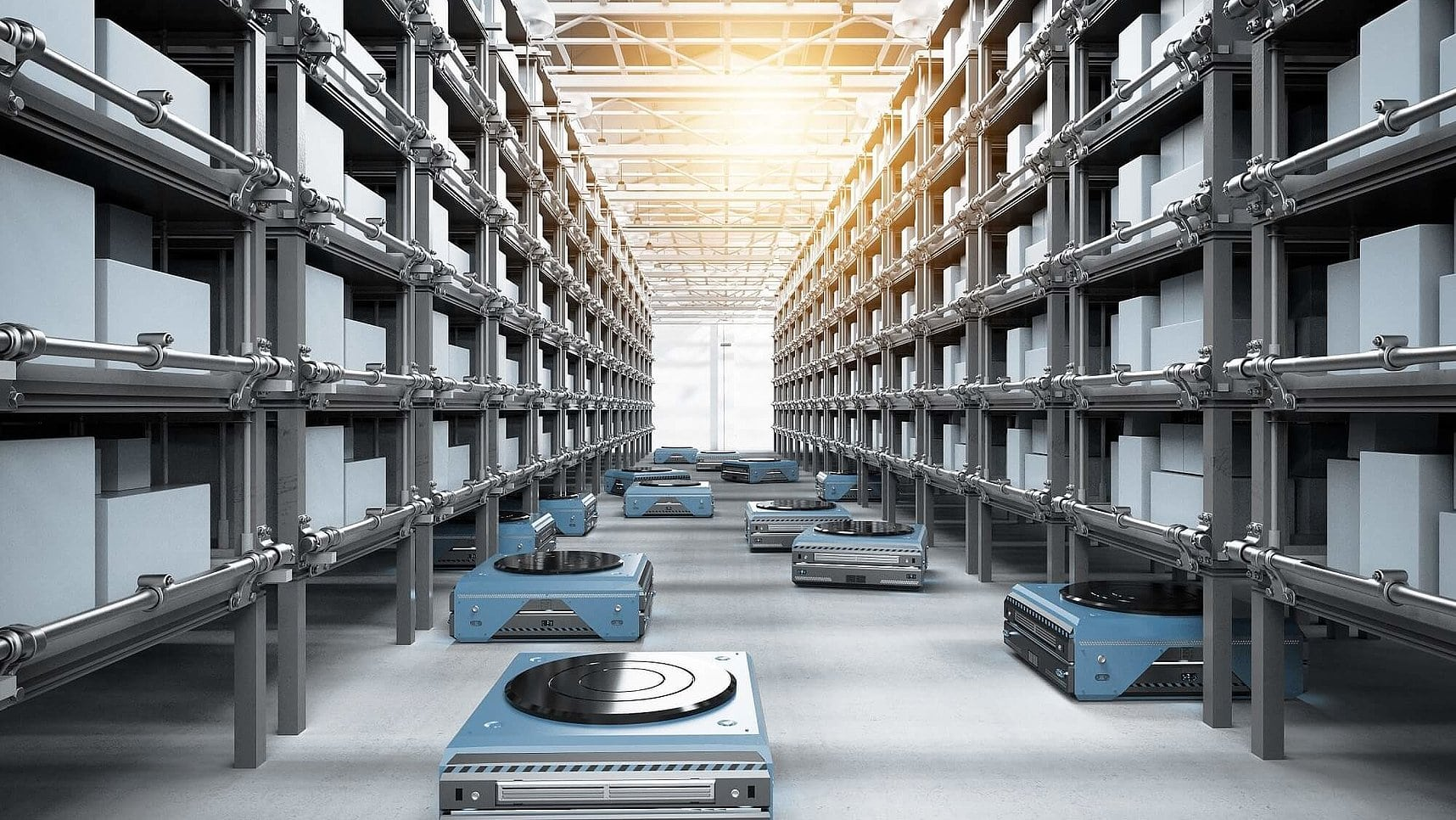 Automated Guided Vehicles in Warehouses