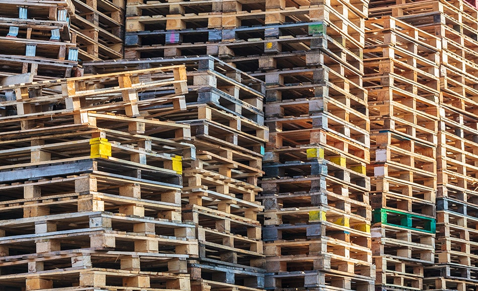Different Pallet Sizes Stacked