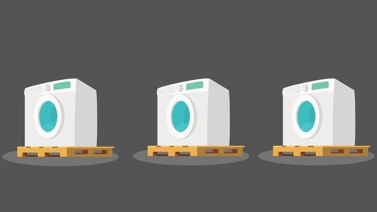 Washing Machines On Pallets