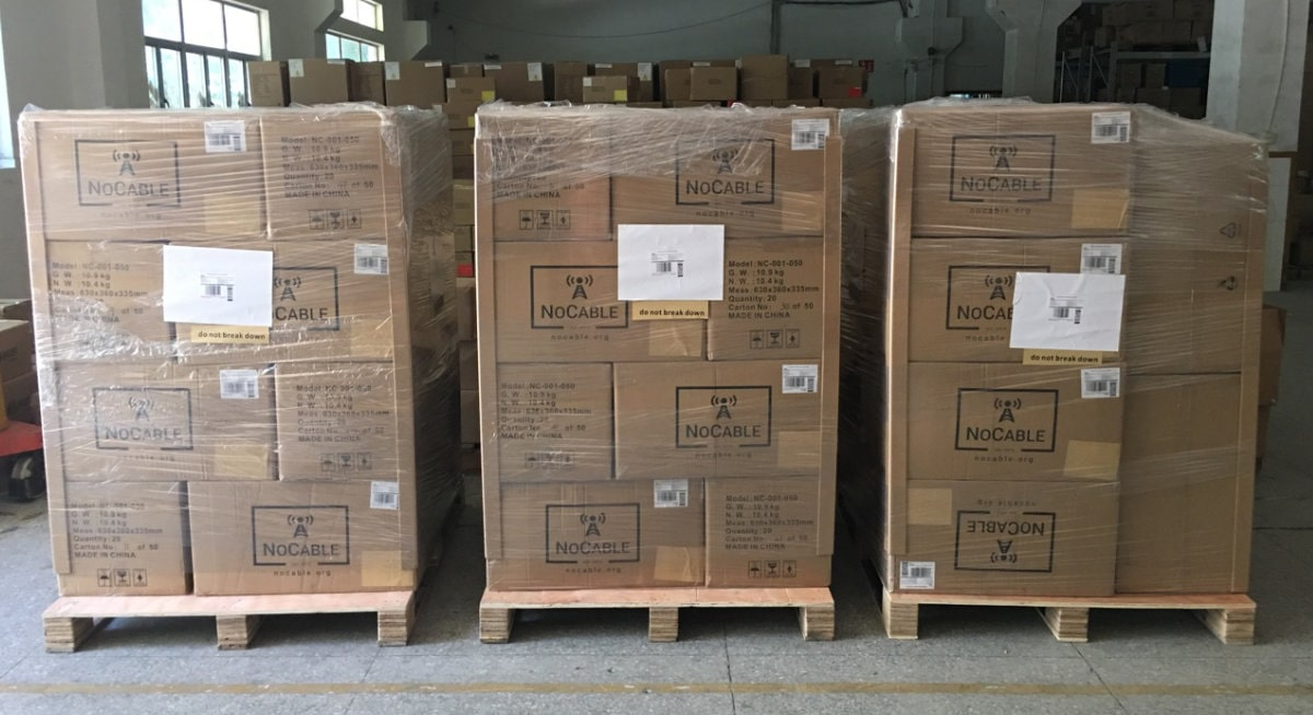 Attaching Pallet Delivery Label To Pallets
