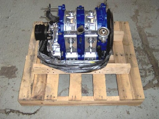 Securing Engines To Pallets