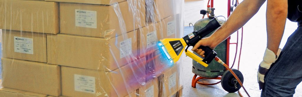 Applying Shrink Wrap to Pallets